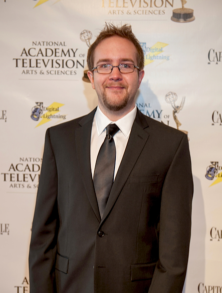 Filmmaker and television producer David Dillehunt on the red carpet at the 2013 NATAS-NCCB Regional Emmy Awards in Baltimore, Maryland. (June 2013)