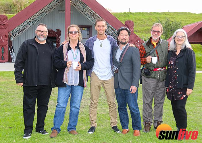 Simon Raby, Lori Balton, Anton Steel, Kent Matsuoka, Dow Griffith, and Phillippa Mossman from the NZ Film Commission