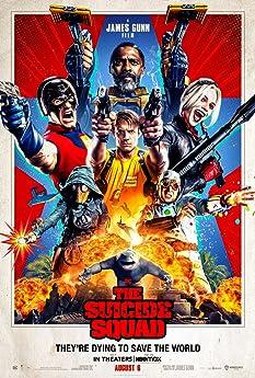 Sylvester Stallone, Steve Agee, Idris Elba, John Cena, Joel Kinnaman, David Dastmalchian, Margot Robbie, and Daniela Melchior in The Suicide Squad (2021)