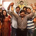 Thesingu Rajendar, Jagan, Vijay Sethupathi, Darshana Rajendran, and Madonna Sebastian in Kavan (2017)