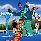 Jason Alexander, Leslie Mann, and French Stewart in Hercules (1998)
