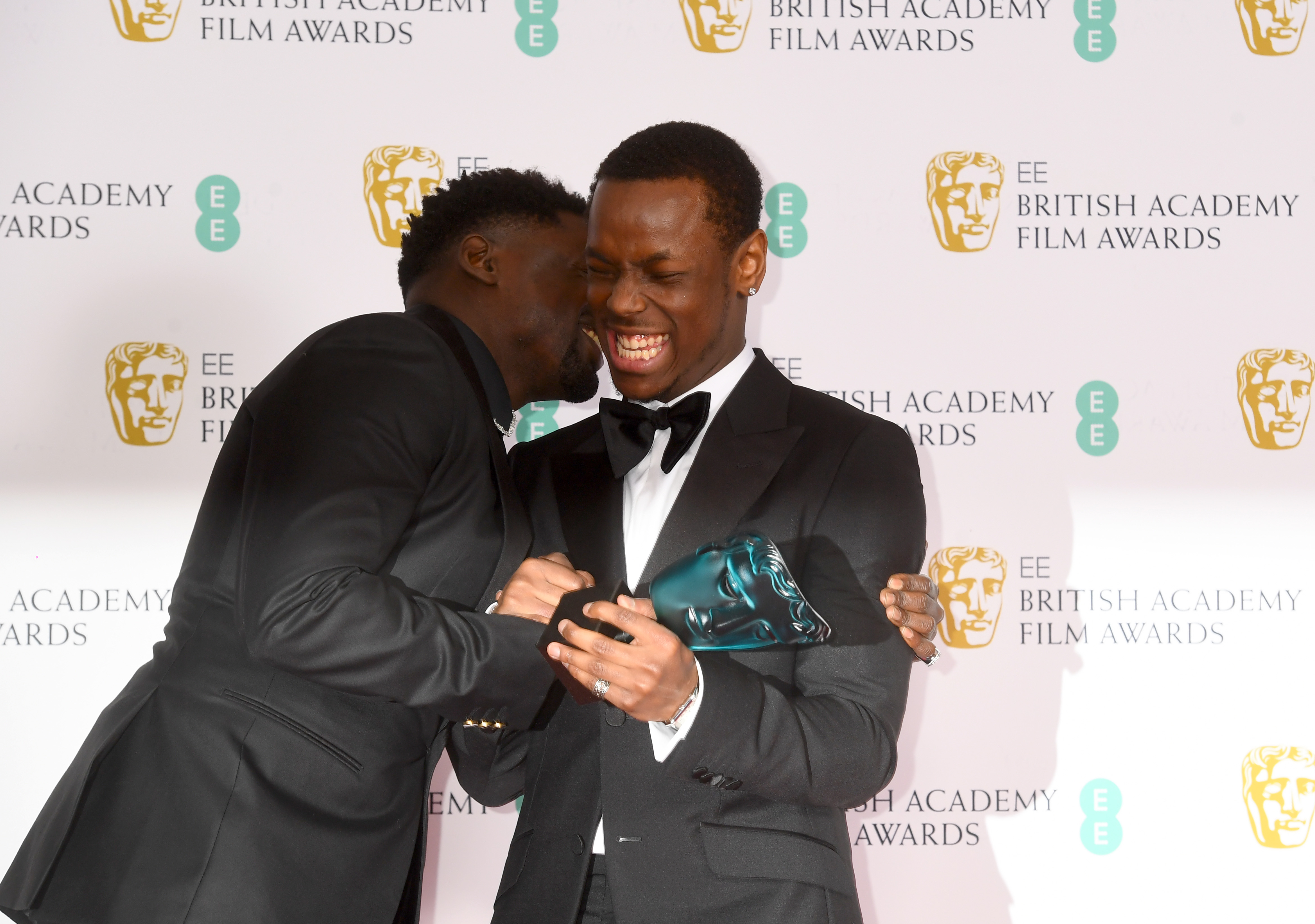 Daniel Kaluuya and Micheal Ward at an event for EE British Academy Film Awards (2020)