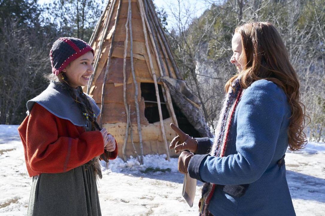 Kiawentiio and Amybeth McNulty in Anne (2017)