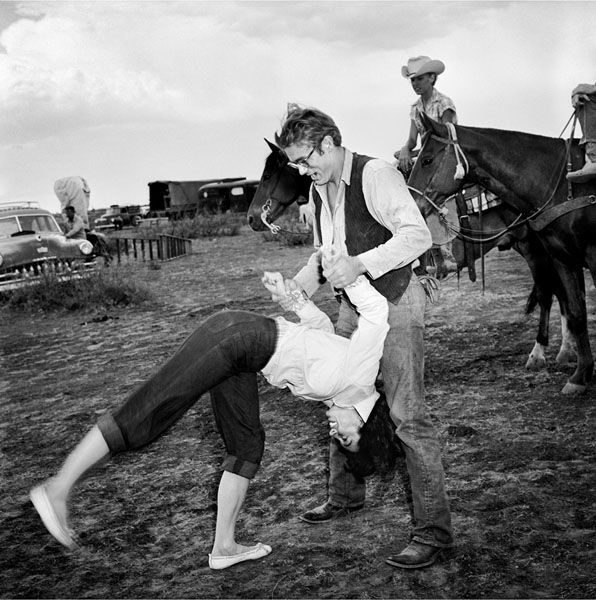 James Dean and Valley Keene in Giant (1956)