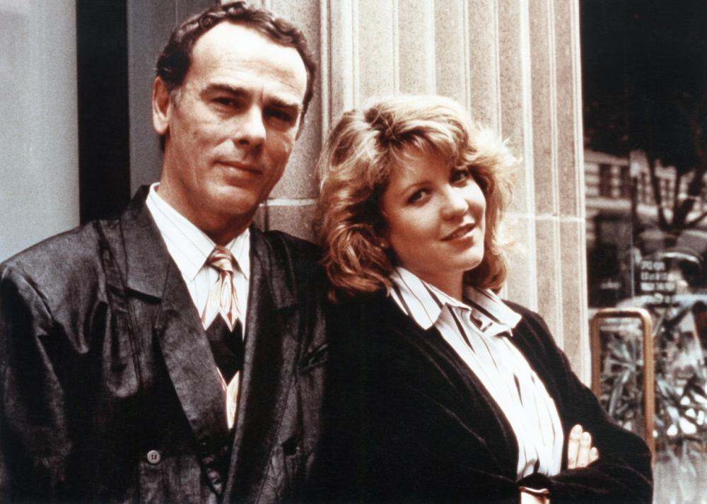 Nancy Allen and Dean Stockwell in Limit Up (1989)