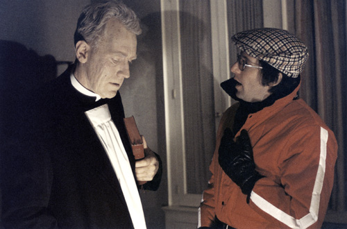William Friedkin and Max von Sydow in The Exorcist (1973)