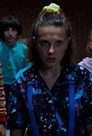 Caleb McLaughlin, Sadie Sink, Millie Bobby Brown, Finn Wolfhard, and Noah Schnapp in Stranger Things (2016)