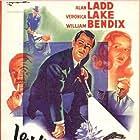 Alan Ladd, Veronica Lake, William Bendix, and Howard Da Silva in The Blue Dahlia (1946)