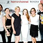 Dan Bush, April Billingsley, Ben Lovett, Elizabeth Davidovich, Caroline Dieter, and Victoria K. Warren in The Dark Red (2018)
