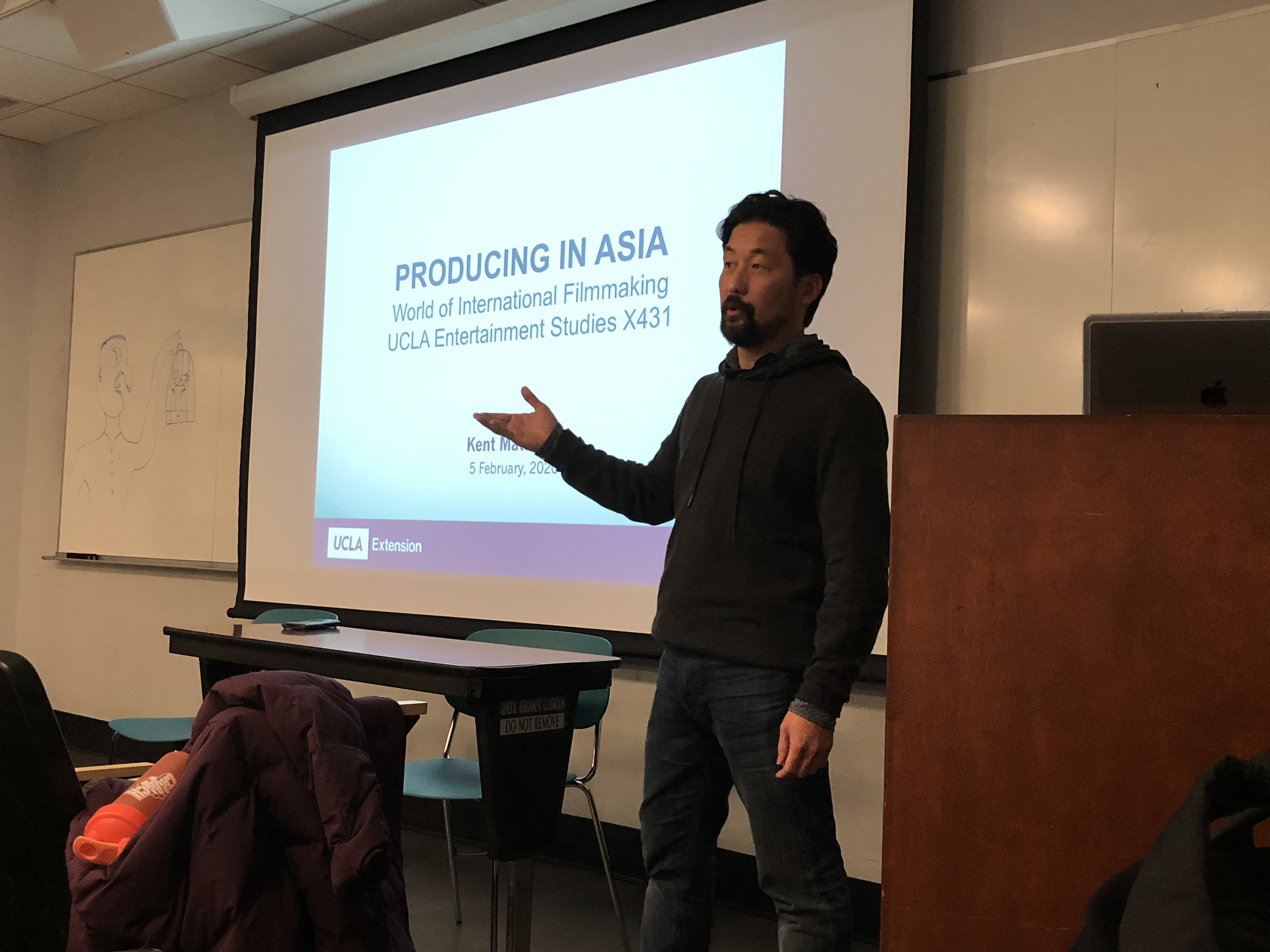 Kent Matsuoka introduces students to aspects of Asian production practices at UCLA Extension