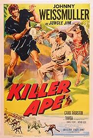 Max Palmer, Carol Thurston, Johnny Weissmuller, and Tamba in Killer Ape (1953)