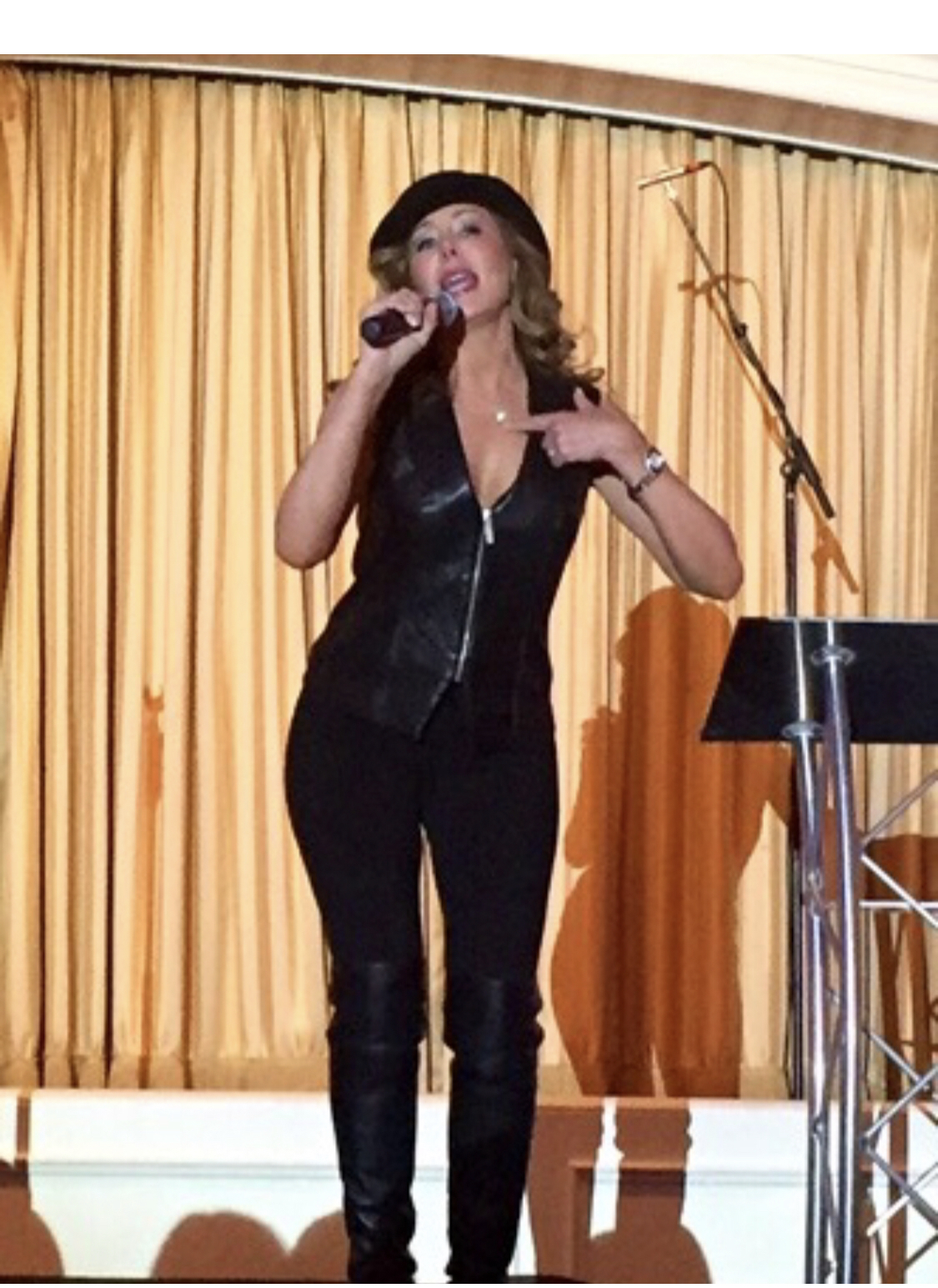 Singing the opening number while hosting an annual Fundraiser for Stem-Cell-Research