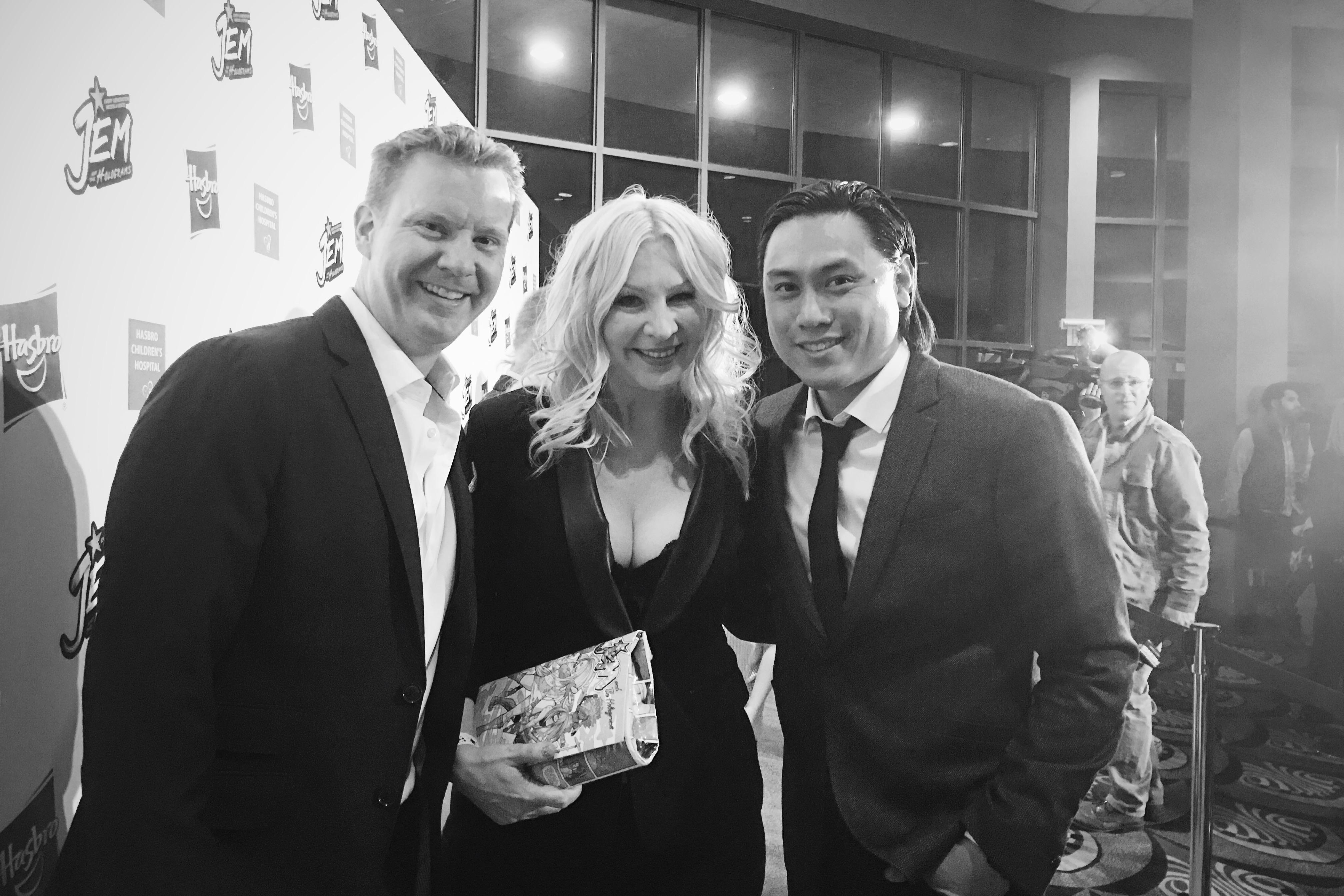 Jon M. Chu, Samantha Newark, and Ryan Landels in Jem and the Holograms (2015)
