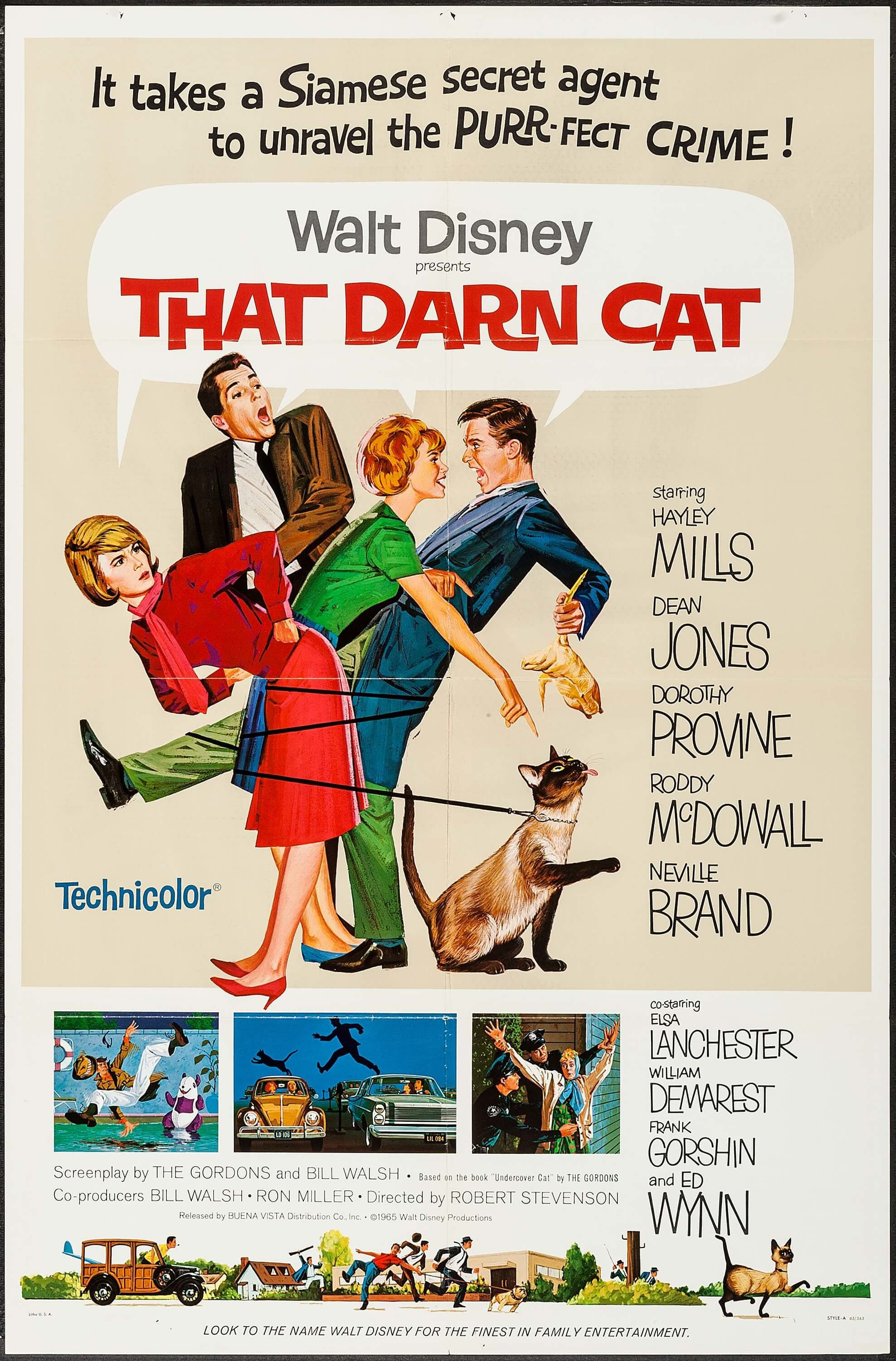 Image result for 1960s that darn cat