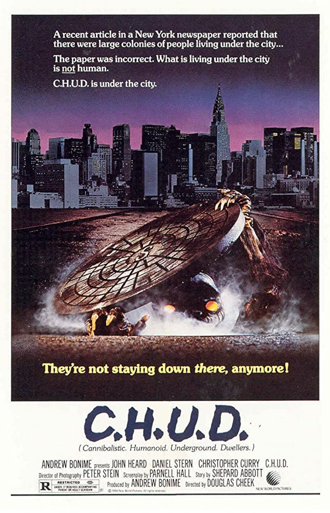 C.H.U.D. Movie Poster 1984 horror movie | kesseljunkie.com