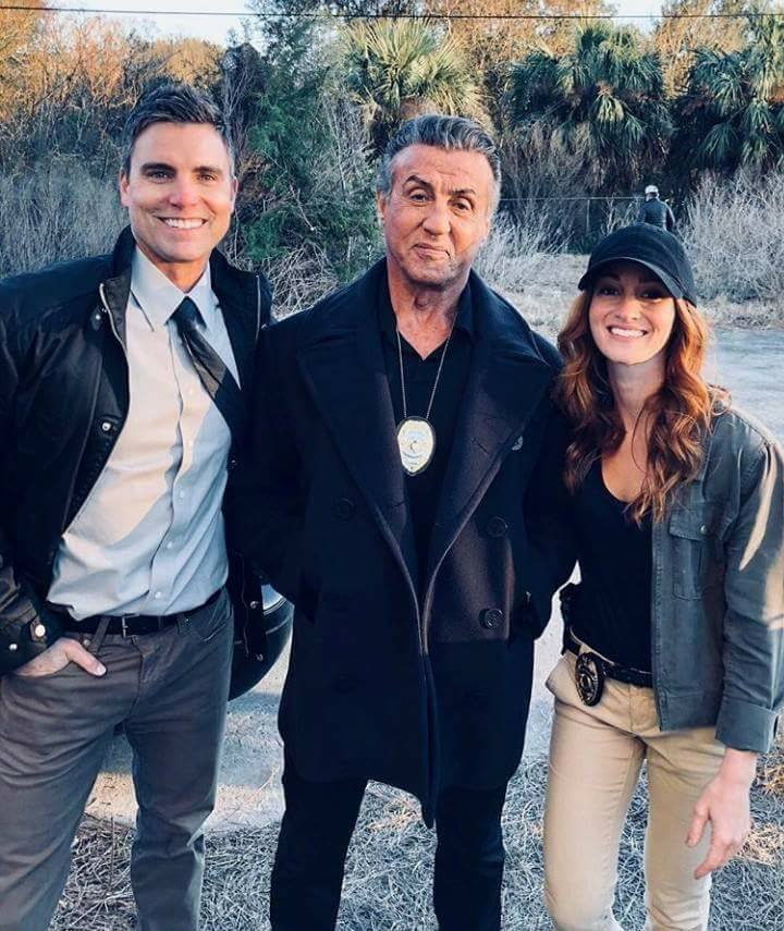 Sylvester Stallone, Colin Egglesfield, and Jenna Willis in Backtrace (2018)