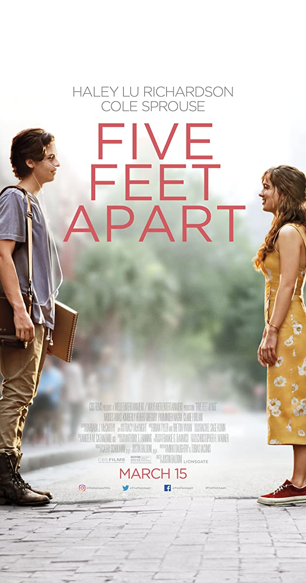 Image result for five feet apart movie poster