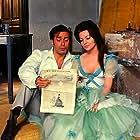 Antonio Cifariello and Sara Montiel in La bella Lola (1962)