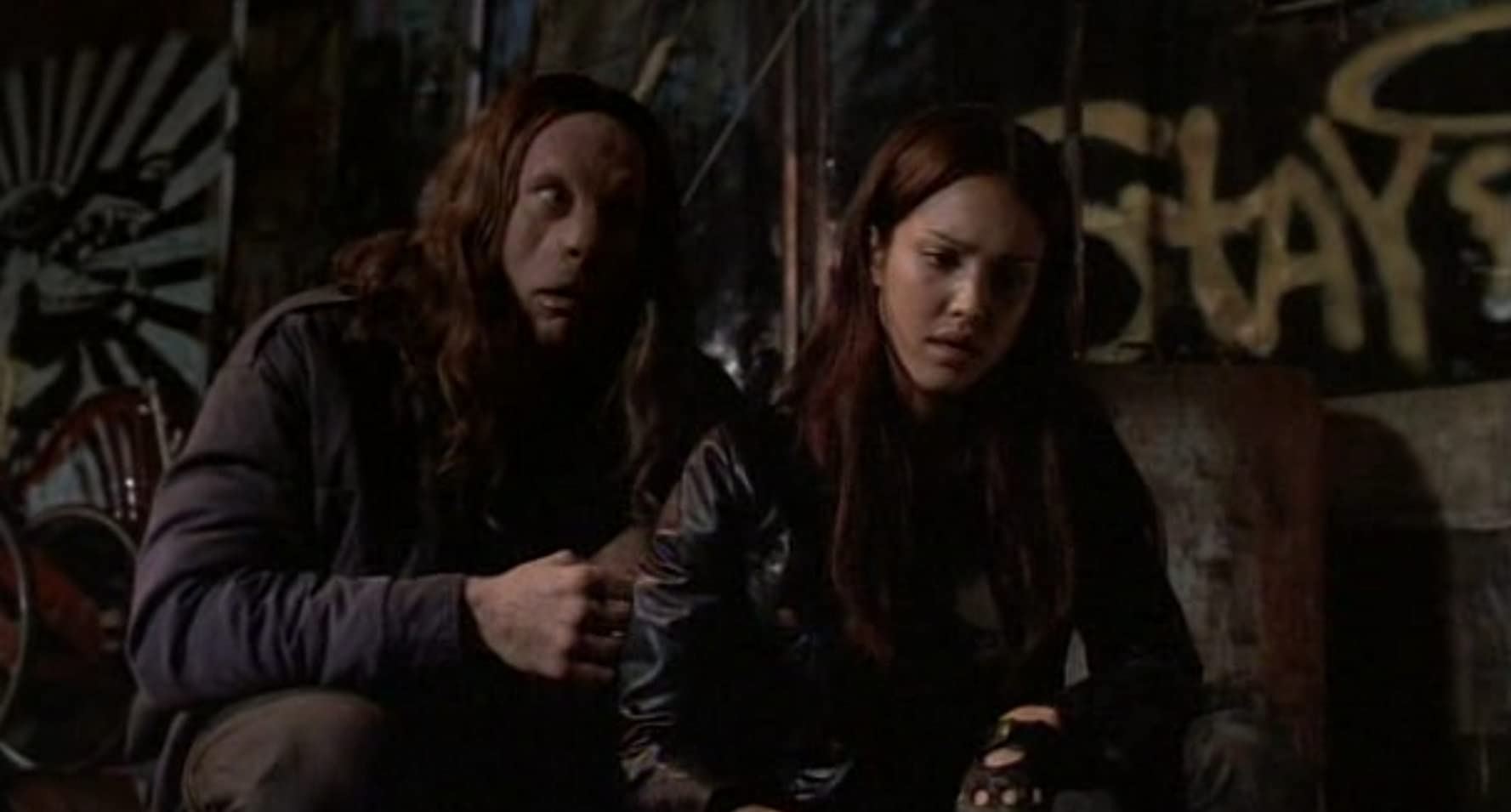 Jessica Alba and Kevin Durand in Dark Angel (2000)