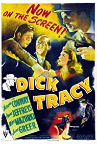 Morgan Conway, Anne Jeffreys, and Mike Mazurki in Dick Tracy (1945)