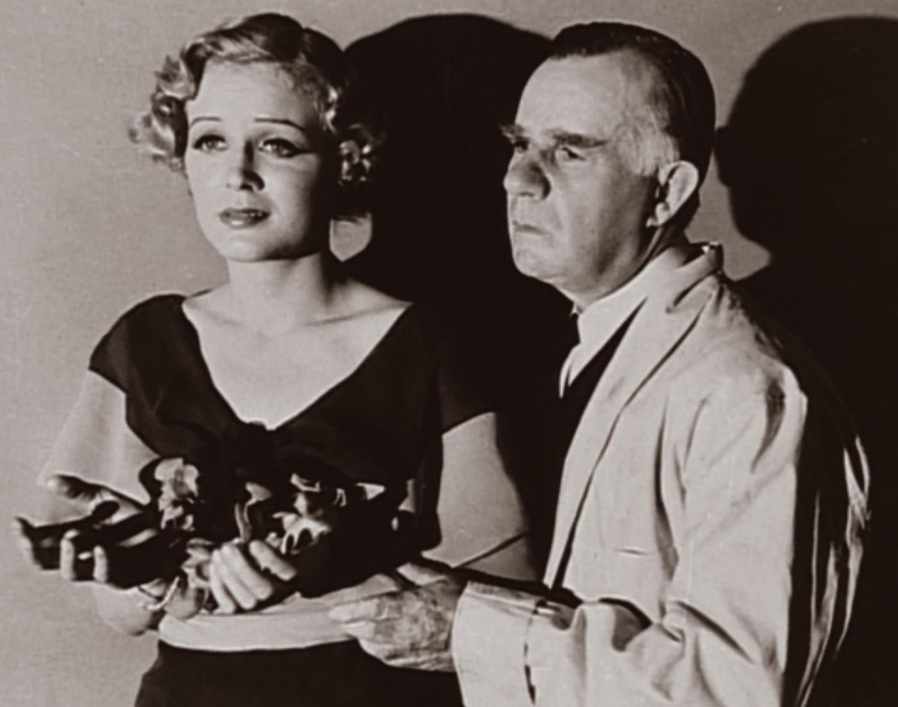 Gloria Stuart and Henry Travers in The Invisible Man (1933)