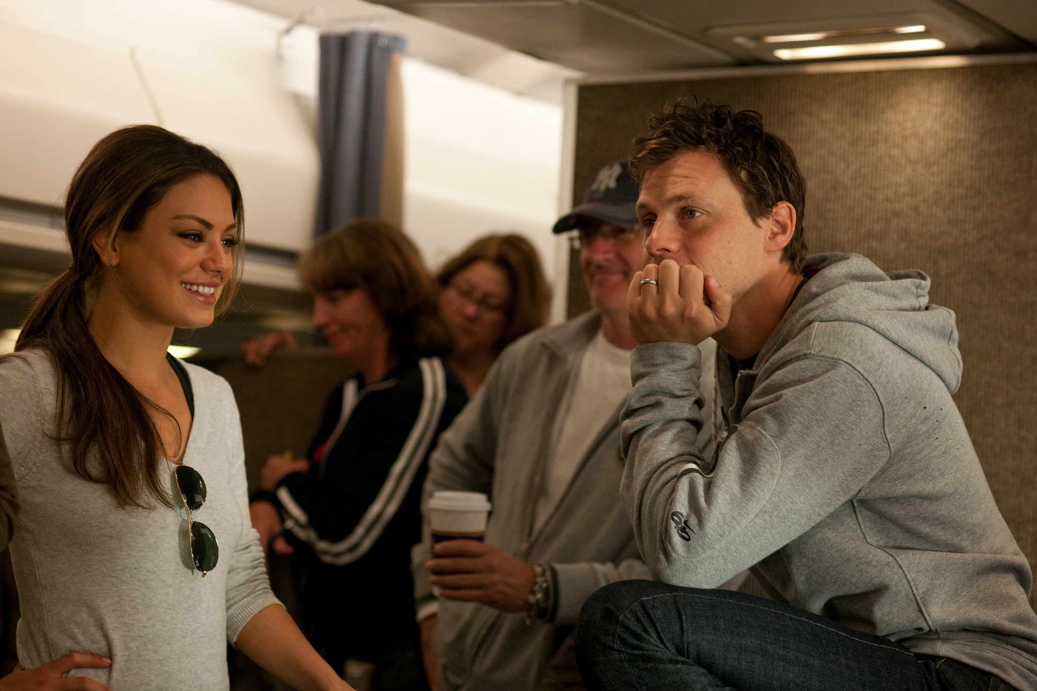 Mila Kunis and Will Gluck in Friends with Benefits (2011)