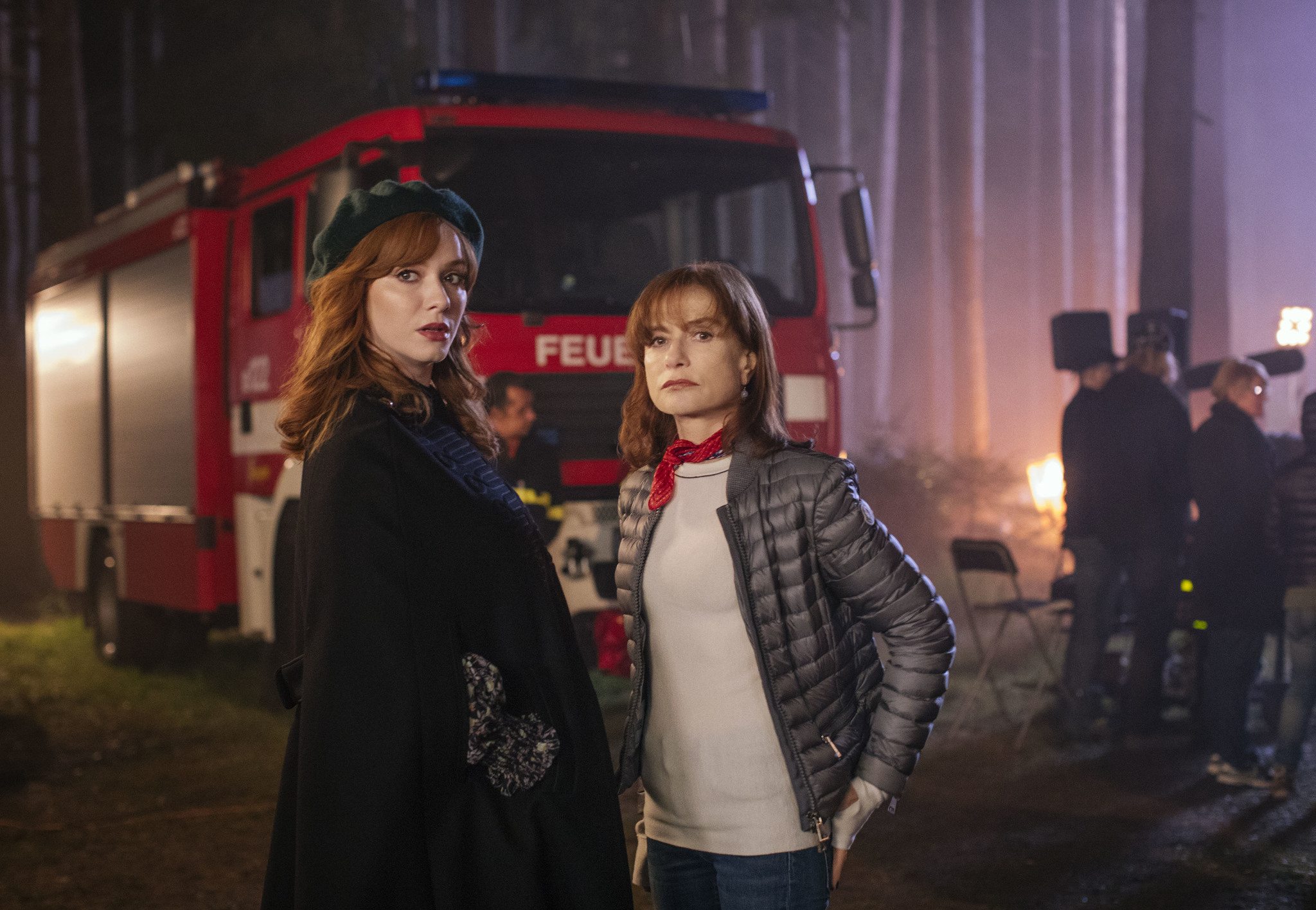 Isabelle Huppert and Christina Hendricks in The Romanoffs (2018)
