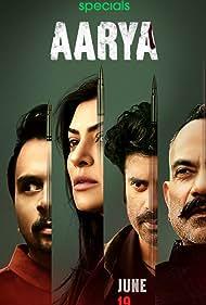 Sushmita Sen, Manish Chaudhary, Namit Das, and Sikandar Kher in Aarya (2020)