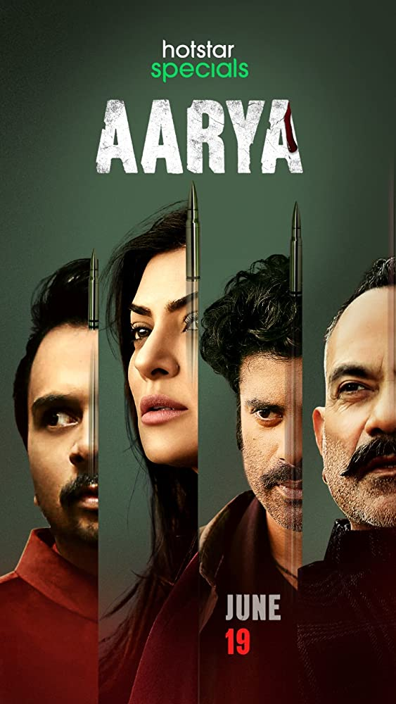 Sushmita Sen, Manish Chaudhary, Namit Das, and Sikandar Kher in Aarya (2020)