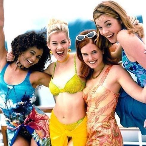 Terri Conn, Wendi Kenya, Persia White, and Rachel Wilson in Breaker High (1997)