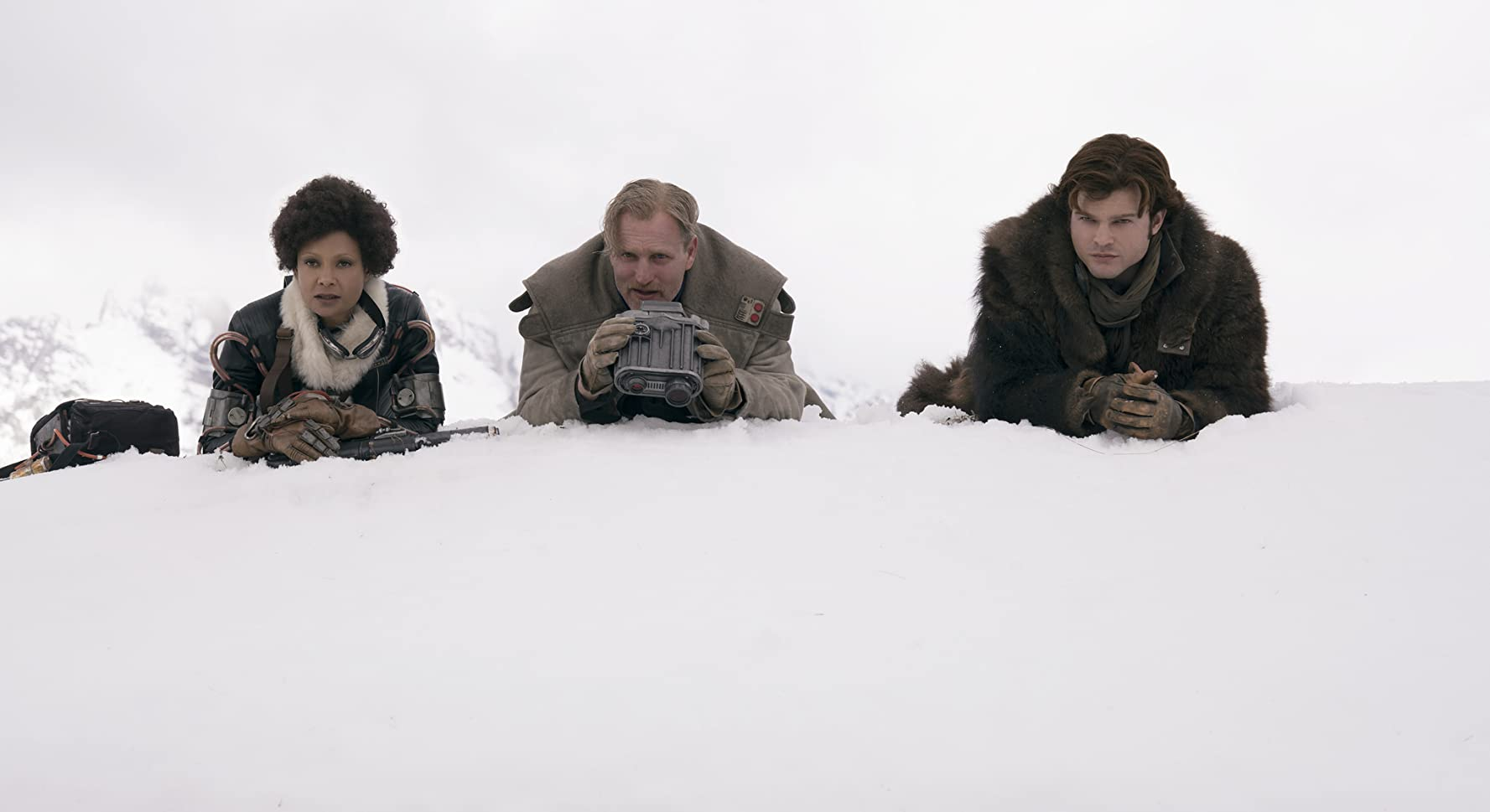 Woody Harrelson, Thandie Newton, and Alden Ehrenreich in Solo: A Star Wars Story (2018)