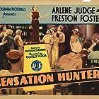 Finis Barton, Marion Burns, Preston Foster, Arline Judge, Kenneth MacKenna, Frank Moran, and Jack Pennick in Sensation Hunters (1933)