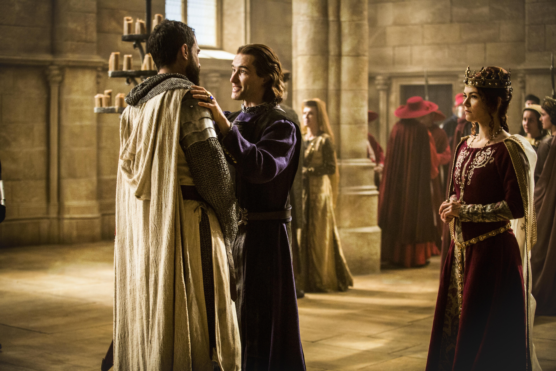 Ed Stoppard, Olivia Ross, and Tom Cullen in Knightfall (2017)