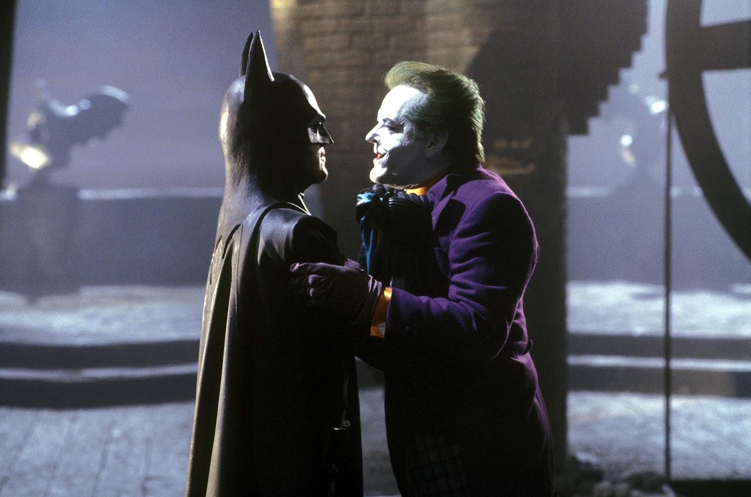 Jack Nicholson and Michael Keaton in Batman (1989)