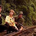 Cynthia Rothrock, Loren Avedon, and Max Thayer in No Retreat, No Surrender 2: Raging Thunder (1987)