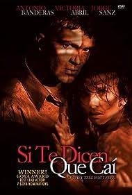 Antonio Banderas and Victoria Abril in Si te dicen que caí (1989)
