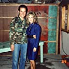 Henry Silva and Sherrie Rose on the set of Cyborg