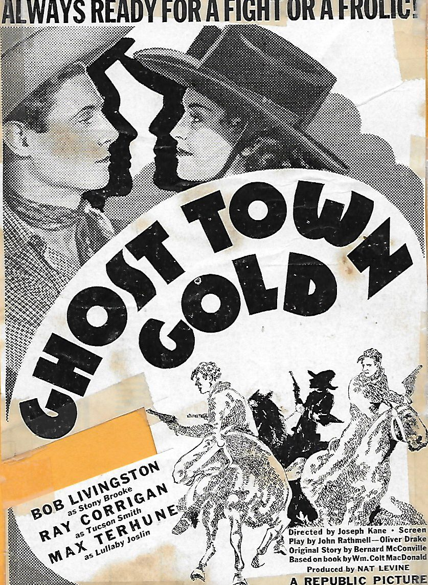 Kay Hughes and Robert Livingston in Ghost-Town Gold (1936)