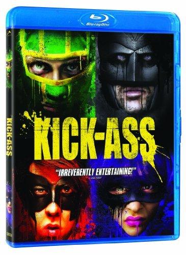 Nicolas Cage, Aaron Taylor-Johnson, Chloë Grace Moretz, and Christopher Mintz-Plasse in Kick-Ass (2010)