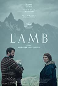 Hilmir Snær Guðnason and Noomi Rapace in Lamb (2021)
