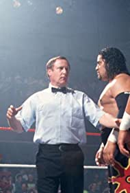 Solofa Fatu Jr., Sam Anoai, Earl Hebner, Pierre Carl Ouellet, and Jacques Rougeau in WWE Monday Night RAW (1993)