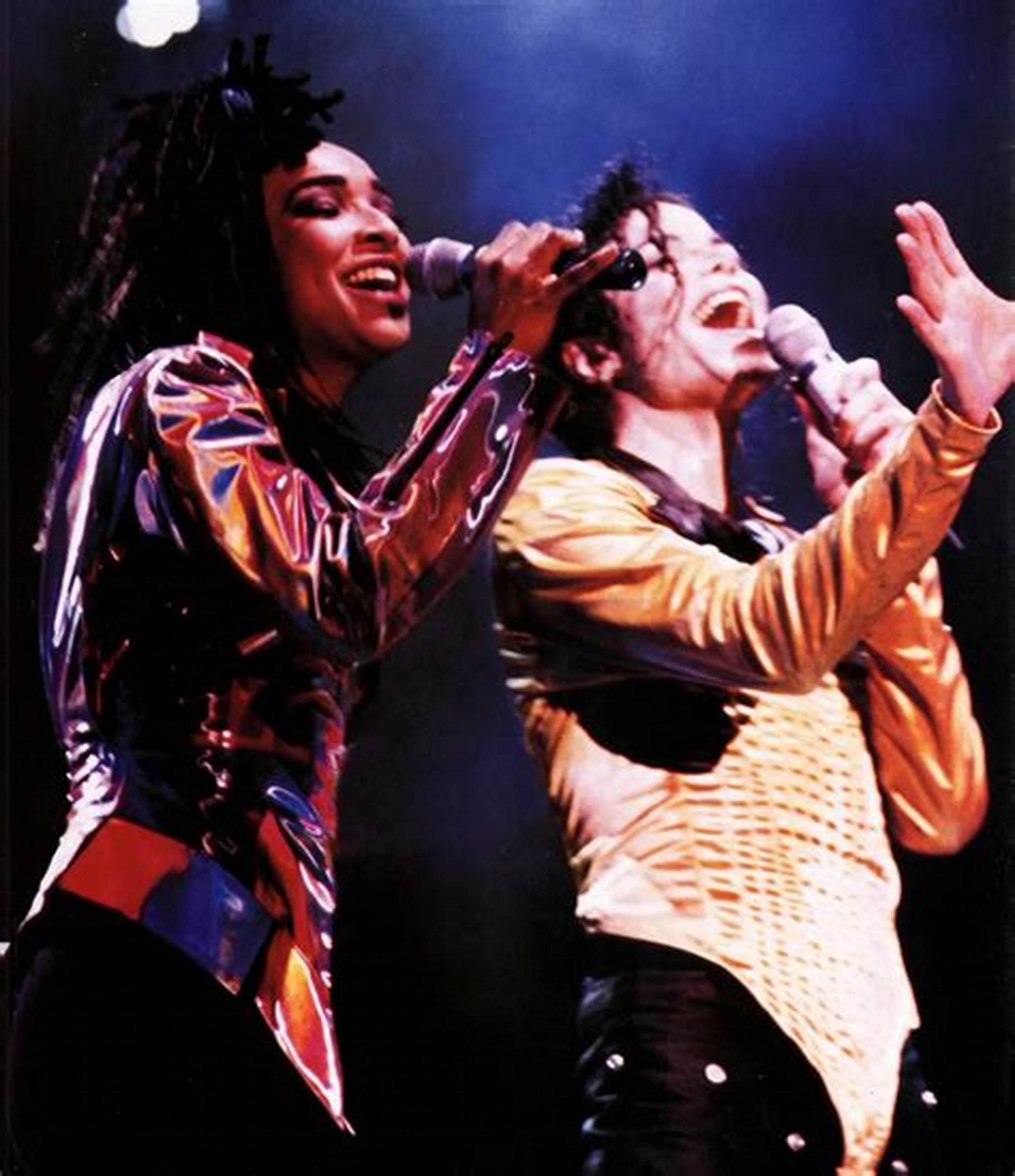 Michael Jackson and Siedah Garrett in Mirroring Michael Jackson (2021)