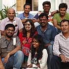 Sooraj R. Barjatya, Manikandan, Kovid Gupta, Mansi Desai, Ashish Ghuge, Surabhi Horo, Vivechana Sharma, and Avnish Barjatya in Prem Ratan Dhan Payo (2015)