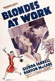 Glenda Farrell and Barton MacLane in Blondes at Work (1938)
