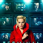 Mike Myers, Dexter Fletcher, Simon Pegg, Max Irons, and Margot Robbie in Terminal (2018)