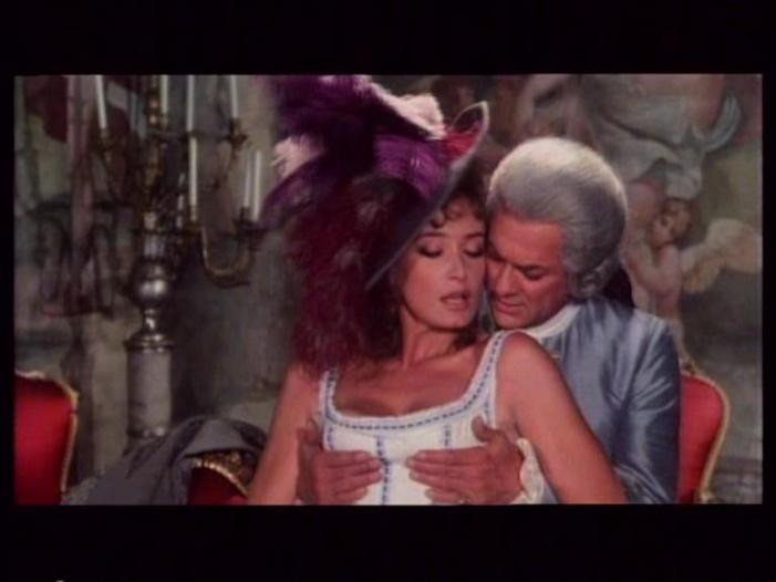 Tony Curtis and Marisa Mell in Casanova & Co. (1977)