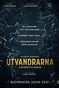 Gustaf Skarsgård, Lisa Carlehed, and Tove Lo in Utvandrarna (2021)