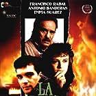 Antonio Banderas, Francisco Rabal, and Emma Suárez in La blanca paloma (1989)