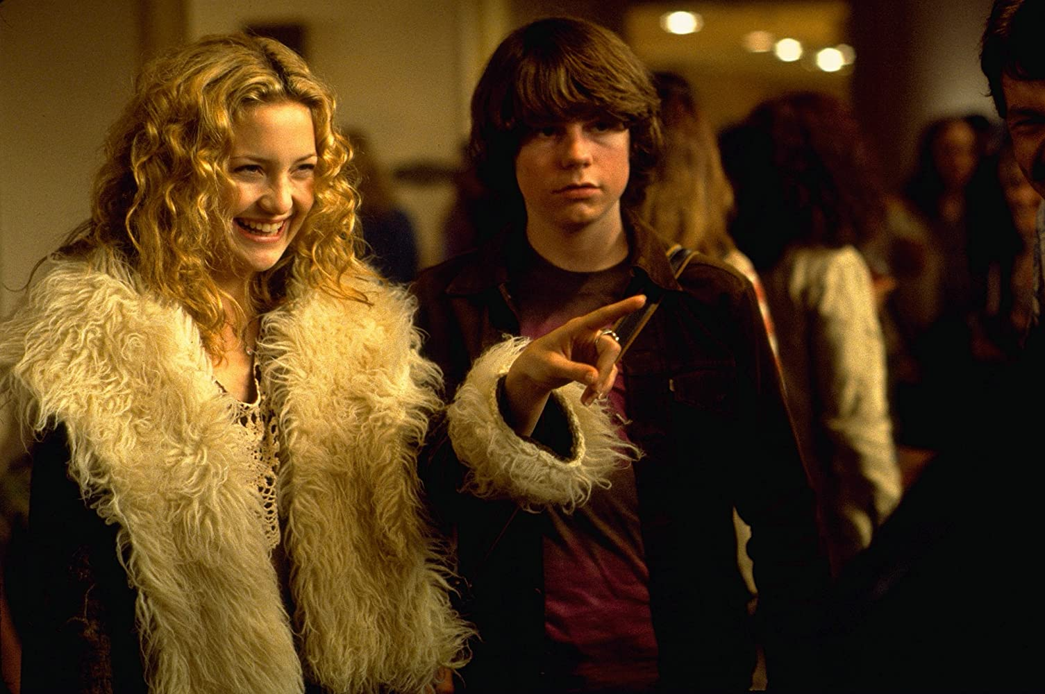 Kate Hudson and Patrick Fugit in Almost Famous (2000)