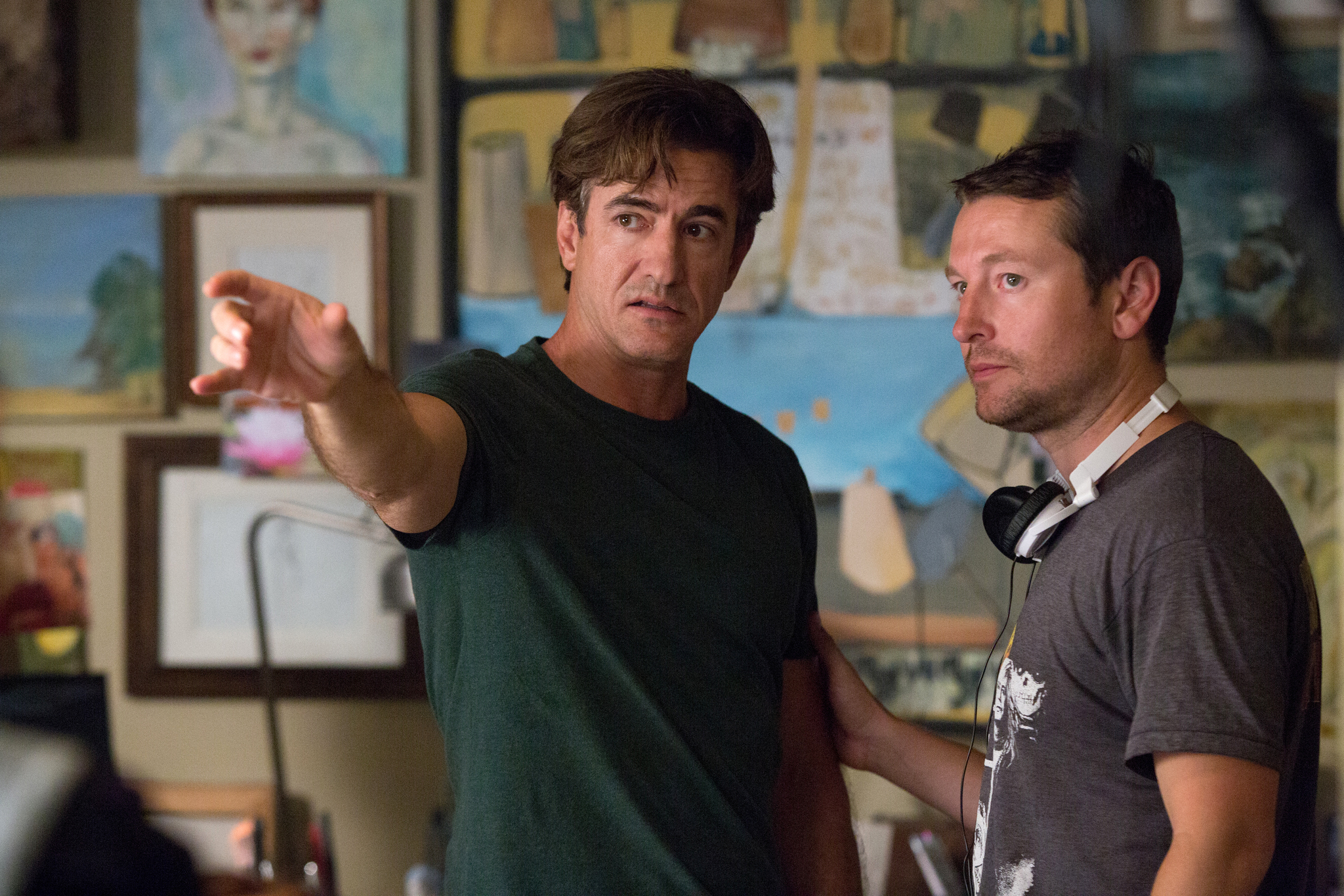 Dermot Mulroney and Leigh Whannell in Insidious: Chapter 3 (2015)
